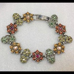Brighton Garden of Eden Crystal Flower Bracelet